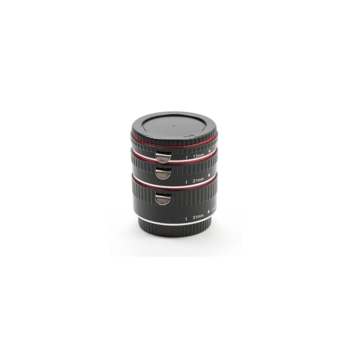 Minadax Automatik Zwischenringe 13/21/31mm für Makrofotographie kompatibel mit Canon 1200D, 1100D, 1000D, 700D, 650D, 600D, 550D, 500D, 450D, 400D, 350D, 300D, 100D, 70D, 60D, 50D, 40D, 30D, 20D, 10D, 7D, 6D, 5D & 1D Serie (Metall Bajonett)