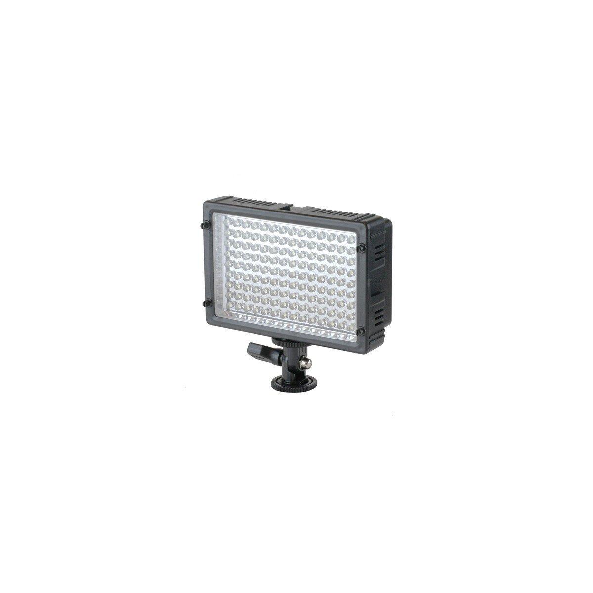 Kraftvolle Videoleuchte 126 LEDs, Lichtkamera mit Dimmer & 2 Filtern für alle gängigen Kameras