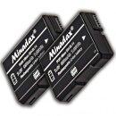 Minadax 2x Li-Ion Akku EN-EN14 EN-EL14A kompatibel mit Nikon D5600, D5500, D5300, D5200, D5100, D3400, D3300, D3200 und D3100 - Ersatz für EN-EL14A