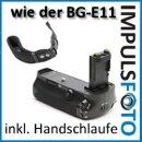 Minadax Profi Batteriegriff fuer Canon EOS 5D Mark III als BG-E11 Ersatz fuer LP-E6 Akkus + 1x Neopren Handgelenkschlaufe