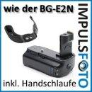 Minadax Profi Batteriegriff kompatibel mit Canon EOS 50D, 40D, 30D, 20D Ersatz für BG-E2N, BG-E2 für BP-511A und 6 AA Batterien + 1x Neopren Handgelenkschlaufe