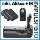 PIXEL Qualitäts Profi Batteriegriff Vertax kompatibel mit Canon EOS 5DS, 5DS R, 5D Mark III - Multifunktions-Handgriff für 5D Mark 3 Ersatz für BG-E11 + 2 LP-E6 Akkus (Nachbau) + 1x Infrarot Fernbedienung