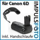 Profi Batteriegriff kompatibel mit Canon EOS 6D Ersatz für BG-E13 - fuer 2x LP-E6 und 6x AA Batterien + 1x Neopren Handgelenkschlaufe