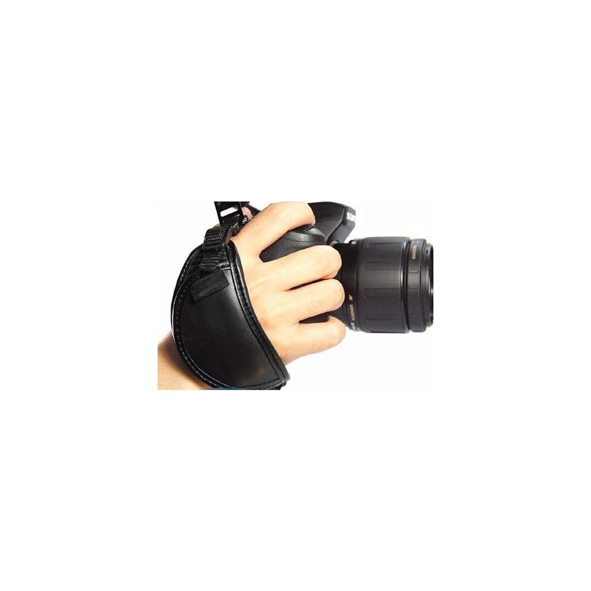 Handschlaufe, Handgriff für DSLR Kameras und Bridgecams, Echtes Leder, Camera Hand Strap HS-A, passend bei fast allen Modellen