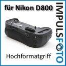 Minadax Profi Batteriegriff kompatibel mit Nikon D800, D800E, D810, D810A - Ersatz für MB-D12  für 1 zusätzlichen Akku und 8x AA Batterien
