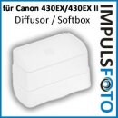 Impulsfoto Pixel Diffusor, Softbox, Weichmacher, Flash Bounce kompatibel mit Canon 430EX, 430EX II Blitzgeräte