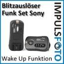 Pixel Soldier TF-373 Funk Blitzausloeser Set bis ca. 100m fuer Sony Blitzgeraete - Gruppen & Wake-Up Funktion