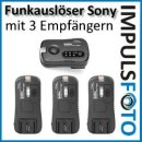 Pixel Soldier TF-373 Funk Blitzauslöser Set mit 3 Empfängern bis ca. 100m kompatibel mit Sony Blitzgeräte - Gruppen & Wake-Up Funktion