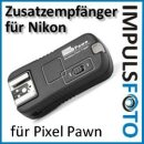 Zusatzempfänger bis ca. 100m kompatibel mit Pixel Pawn TF-362 Set Nikon – Wake Up Funktion – TF-362RX