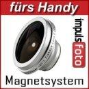 0.2x Minadax Fisheye Handylinse kompatibel mit Smartphone und Handys mit Magnetsystem 31,5mm - geeignet für fast alle Kamerahand