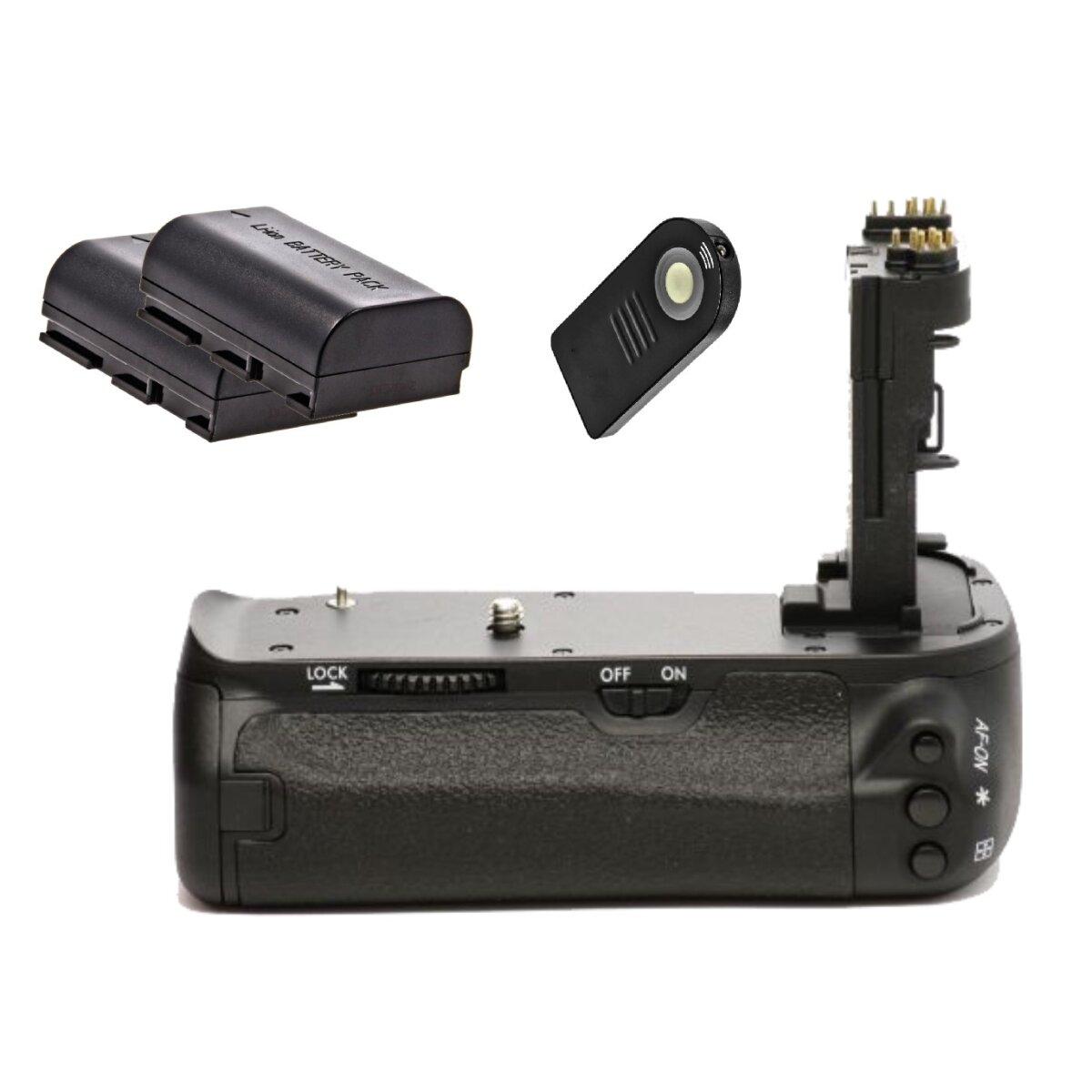 Minadax Profi Batteriegriff kompatibel mit Canon EOS 6D - Ersatz für BG-E13 - für 2x LP-E6 und 6x AA Batterien + 2 LP-E6 Nachbau-Akkus + 1x Infrarot Fernbedienung!