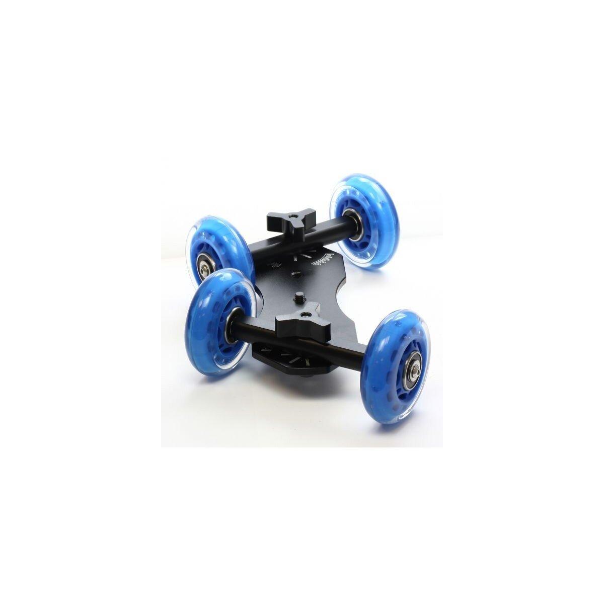 Table Dolly Mini Skaterdolly Kamerawagen fuer Kamera- und Kurvenfahrt mit DSLR Systemkamera oder Camcorder
