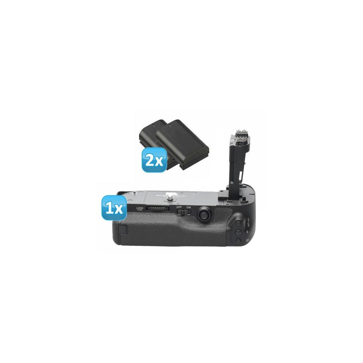 Qualitäts Profi Batteriegriff von Vertax kompatibel mit Canon EOS 5D Mark III - Multifunktions-Handgriff fuer 5D Mark 3 Ersatz für BG-E11 + 2 LP-E6 Akkus (Nachbau)