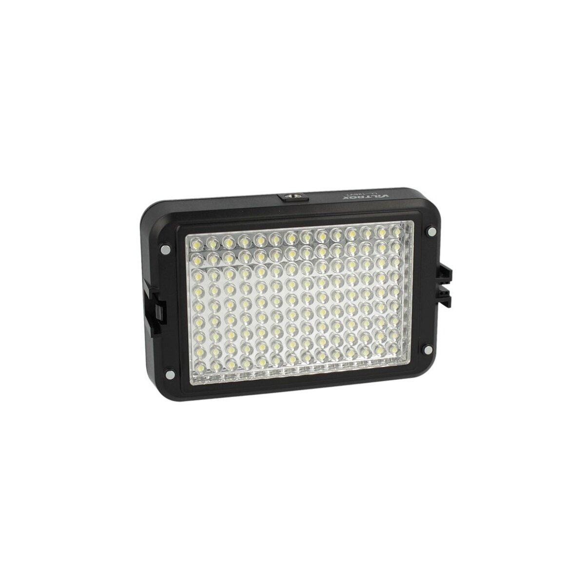 Kraftvolle Videoleuchte 126 LED's, Lichtkamera mit Dimmer fuer Farbtemperatur & 2 Filtern fuer alle gaengigen Kameras