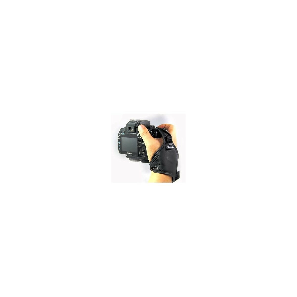 Lederhandschlaufe mit sicherem Halt dank 3 Punkte System - fuer alle SLR- und DSLR-Kameras (IF-HSN) - Canon, Nikon, Sony Alpha, Minolta, Pentax, Sigma, Olympus etc.