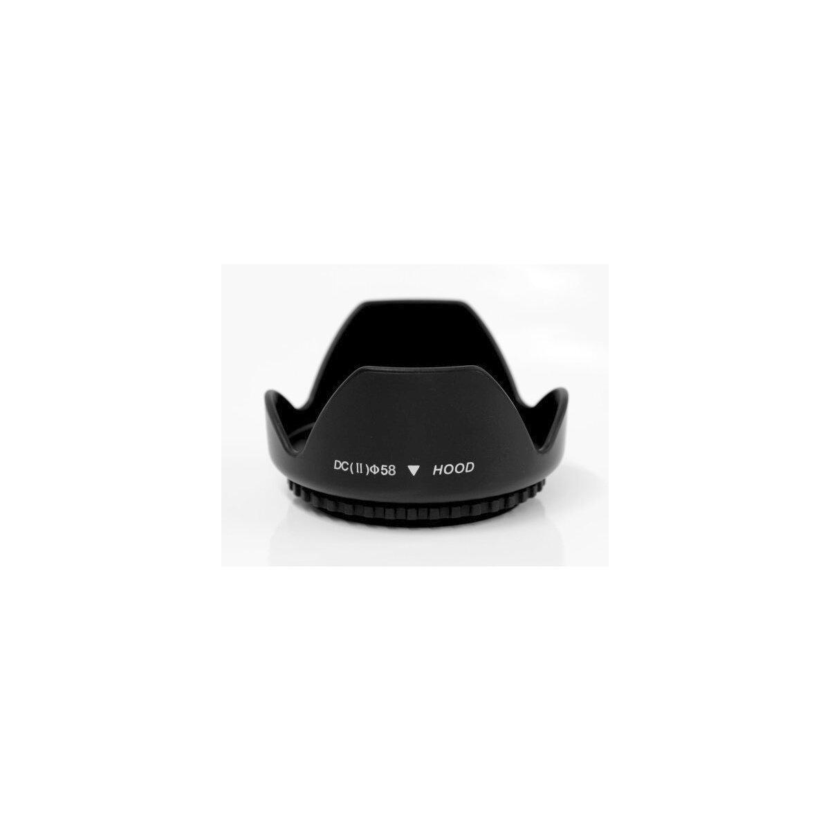 Gegenlichtblende Streulichtblende Sonnenblende Lens Hood mit 58mm Schraubgewinde
