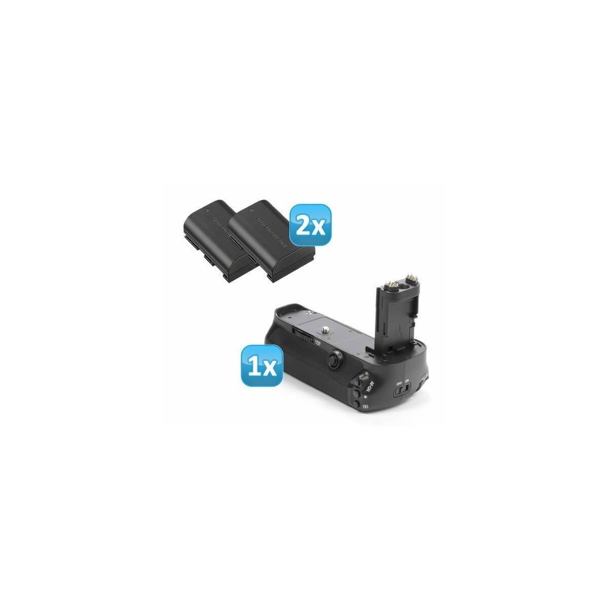 Profi Batteriegriff kompatibel mit Canon EOS 5D Mark III Ersatz für BG-E11  + 2x LP-E6 Nachbau-Akkus