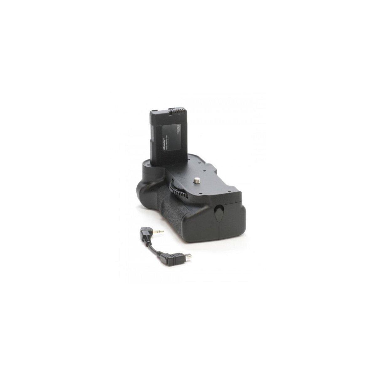 Minadax Profi Batteriegriff kompatibel mit Nikon D5300, D5200, D5100 - hochwertiger Handgriff mit Hochformatauslöser für 2x EN-EL14 Akkus