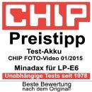 2x Minadax Li-Ion Akku kompatibel mit Canon EOS 80D, 70D,...