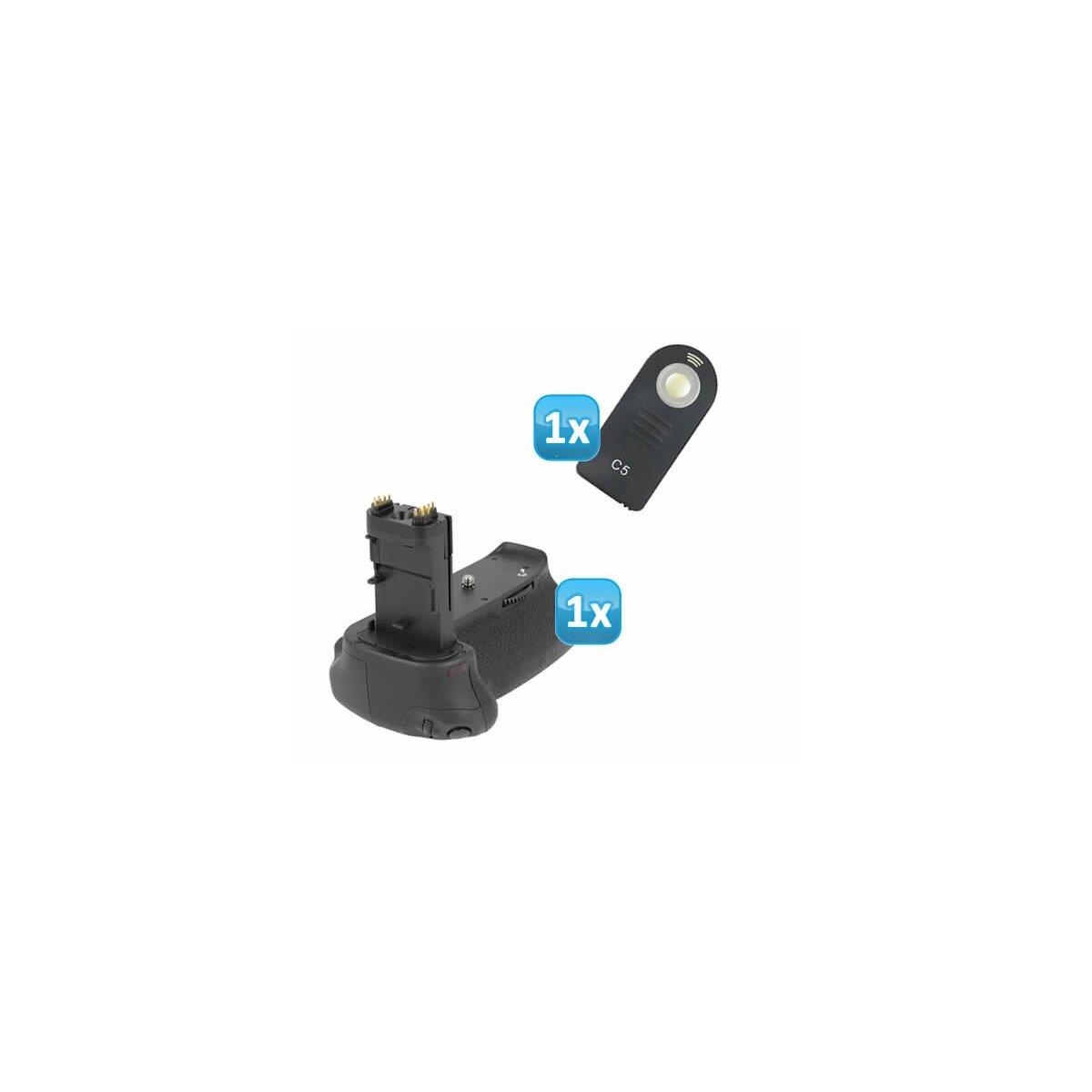 Minadax Batteriegriff kompatibel mit Canon EOS 6D mit INFRAROT Schnittstelle - Ersatz für BG-E13 für 2x LP-E6 oder 6 AA Batterien