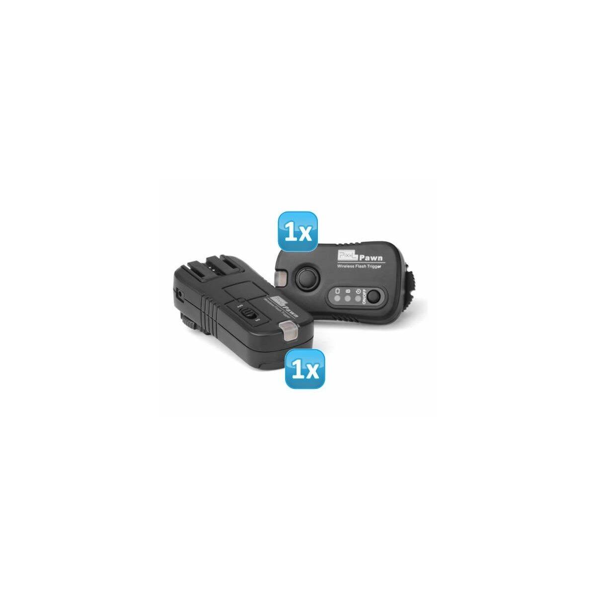 Pixel Pawn TF-363 Funk Blitzauslöser Set bis zu 100m kompatibel mit Sony und Minolta Blitzgeräte – Funkauslöser Kamera- und Blitz