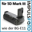 Minadax Profi Batteriegriff kompatibel mit Canon EOS 5D Mark III als BG-E11 Ersatz für LP-E6 Akkus