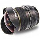Minadax 8,0 mm 1:3,5 Fisheyeobjektiv kompatibel mit Nikon...