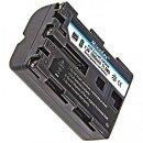 Minadax Qualitätsakku mit echten 1600 mAh für Nikon Sony A900, A850, A700, A560, A550, A500, A350, A300, A200, A100, A99, A77, A65,  A58, A57 wie NP-FM500H - Intelligentes Akkusystem mit Chip