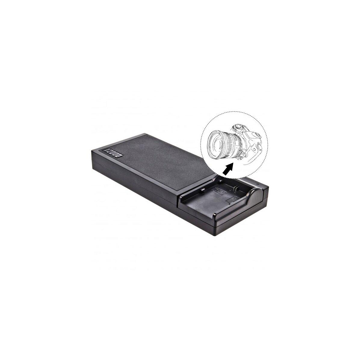 Multi DSLR Ladestation kompatibel für LP-E6 und USB - 12000 mAh