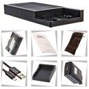 Multi DSLR Ladestation kompatibel für LP-E6 und USB + 1x LP-E6 Akku - 12000 mAh