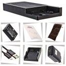 Multi DSLR Ladestation kompatibel für EN-EL14 und USB - 12000 mAh