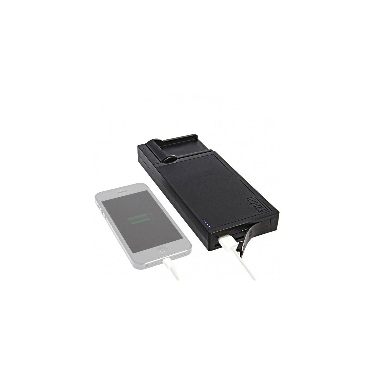 Multi DSLR Ladestation kompatibel mit Canon BP-511/511A/512/522/535 und USB - 12 000 mAh PowerBank Pack kompatibel mit Handy, Akku, Smartphones, Tablets, PSP, Google Glass, GoPro, GPS etc.
