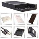 Multi DSLR Ladestation kompatibel für LP-E12 und USB + 1x LP-E12 Akku - 12 000 mAh