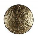 5in1 Faltreflektoren Set - ca. 80cm - gold, silber, schwarz, weiß und Diffusor