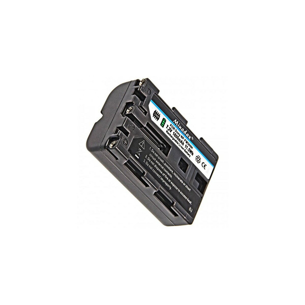 "Minadax PRO Li-Ion Akku ""Hohe Kapazitaet"" 1600 mAh kompatibel für Sony - Ersatz für NP-FM500H"