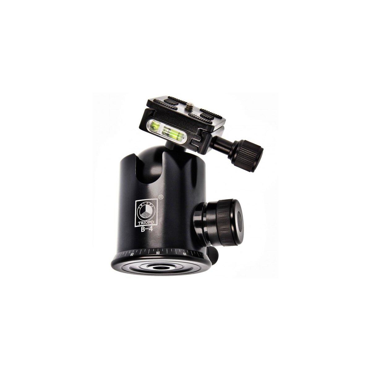 TRIOPO Friktions Kugelkopf B-4 fuer schwere DSLR / Mittelformat Kameras inkl. Adaptergewinde 1/4 zu 3/8