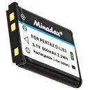 Minadax® Qualitaetsakku mit echten 600 mAh fuer...