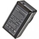 Minadax® Ladegeraet 100% kompatibel fuer Sony NP-FP50, NP-FP70, NP-FP90, NP-FH50, NP-FH70, NP-FH100, NP-FV50, NP-FV70, NP-FV100 inkl. Auto Ladekabel, Ladeschale austauschbar