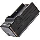 Minadax® Ladegeraet 100% kompatibel fuer Panasonic VW-VBN130, VW-VBN260 inkl. Auto Ladekabel, Ladeschale austauschbar