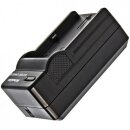 Minadax® Ladegerät 100% kompatibel für Kodak KLIC-7004 & Fuji NP-50, NP-48 inkl. Auto Ladekabel, Ladeschale austauschbar