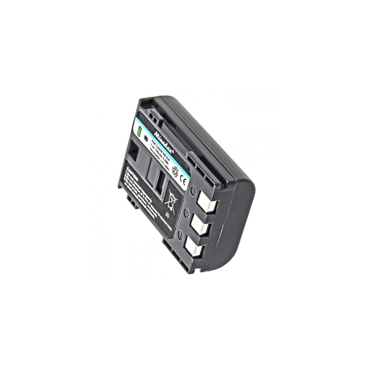 Minadax® Qualitaetsakku mit echten 700 mAh kompatibel mit Canon Powershot S30/S40/S45/S50/S60, ersetzt NB-2LH - Intelligentes Akkusystem mit Chip
