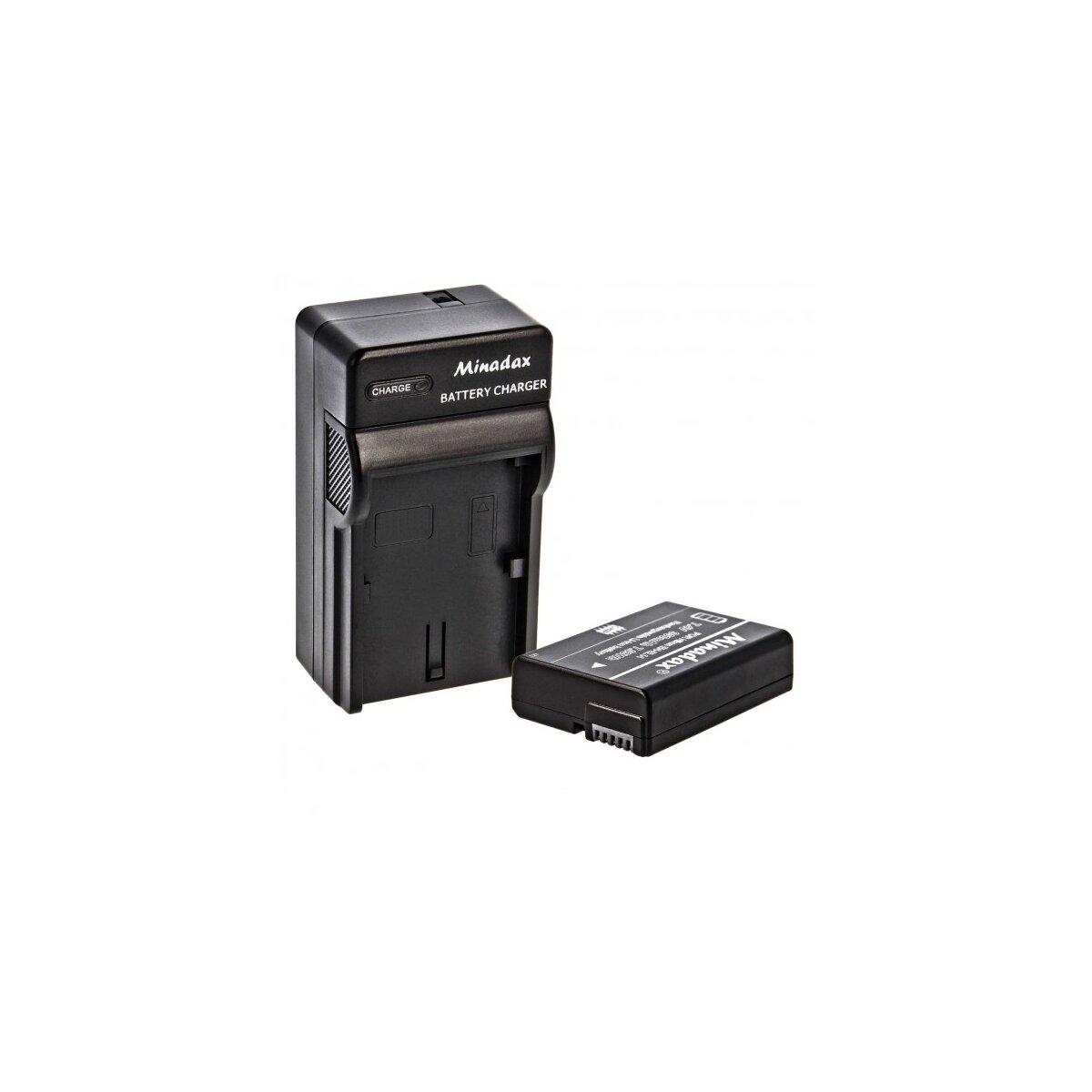 Minadax® Akku + Ladegerät kompatibel mit Nikon EN-EL14 EN-EL14A inkl. Auto Ladekabel, Ladeschale austauschbar + Ersatz für EN-EL14A