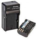 Minadax® Ladegerät 100% kompatibel mit Pentax D-LI90 inkl. Auto Ladekabel, Ladeschale austauschbar + 1x Akku Ersatz für D-LI90