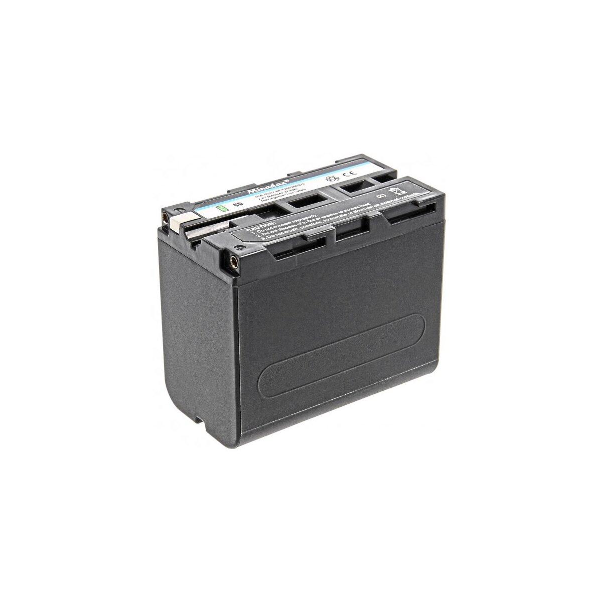 Minadax Qualitätsakku mit echten 6600 mAh kompatibel für Sony CCD-TR Series CCD-TRV Series Sony DCR-TR Series Sony DCS-CD Sony MVC-FD Series Ersatz für NP-F970 - Intelligentes Akkusystem mit Chip