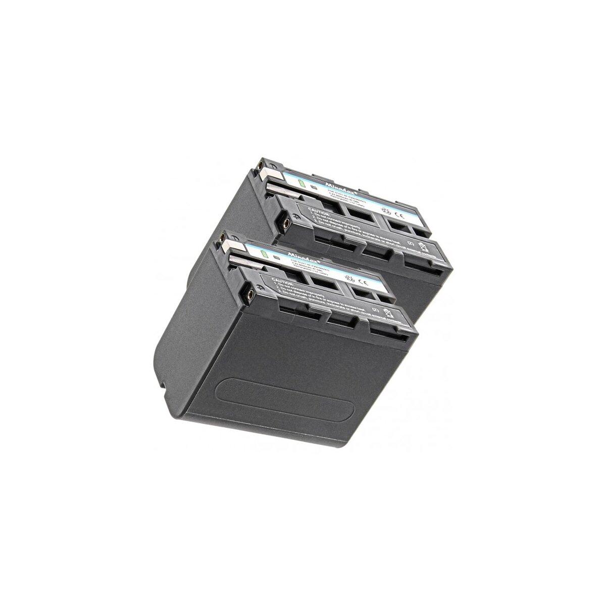 2x Minadax Qualitätsakku mit echten 6600 mAh kompatibel für Sony CCD-TR Series CCD-TRV Series Sony DCR-TR Series Sony DCS-CD Sony MVC-FD Series etc. Ersatz für NP-F970
