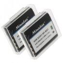 2x Minadax Qualitätsakku mit echten 950 mAh...