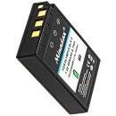 2x Minadax® Qualitaetsakku mit echten 900 mAh fuer Olympus Stylus 1 PEN E-PL2 E-PL3 E-PL5 E-PL6 E-PL7 E-P3 E-PM1 E-PM2 E-M10, wie BLS-5 - Intelligentes Akkusystem mit Chip