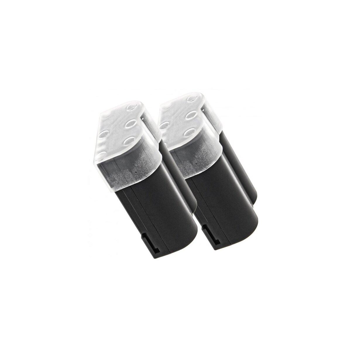 2x Minadax® Qualitaetsakku mit echten 1400 mAh fuer Olympus E-500 E-510 E-520 E1 E3 E30 E300 E330, wie BLM-1 - Intelligentes Akkusystem mit Chip