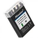 Minadax® Qualitaetsakku mit echten 750 mAh fuer Olympus µ 300 400 410, CAMEDIA C-50 C-5000 C-760 C-765 C-770, wie LI-12B - Intelligentes Akkusystem mit Chip