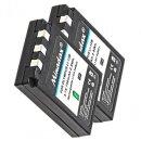 2x Minadax® Qualitaetsakku mit echten 750 mAh fuer Olympus µ 300 400 500, Camedia C-50 C-5000 C-760 C-765 C-770, wie LI-10B - Intelligentes Akkusystem mit Chip